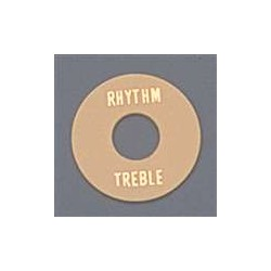 ALL PARTS AP0663028 RHYTHM/TREBLE RING FOR TOGGLE SWITCH, CREAM PLASTIC