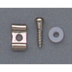 ALL PARTS AP0720001 STRING GUIDES WAVY STYLE, WITH SCREWS AND SPACERS FOR GUITAR, NICKEL