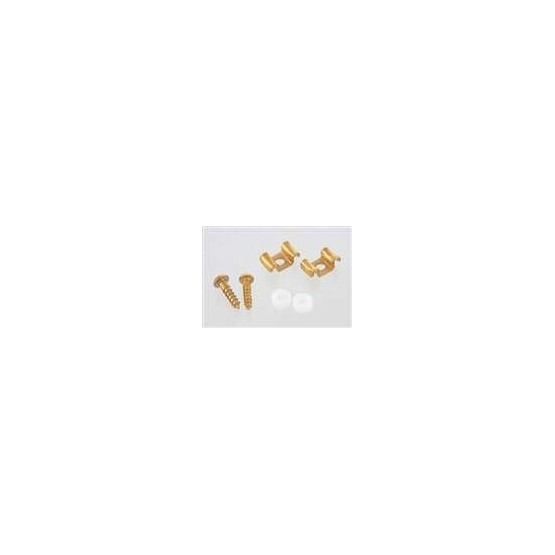 ALL PARTS AP0720002 STRING GUIDES (2) WAVY STYLE FOR GUITAR GOLD