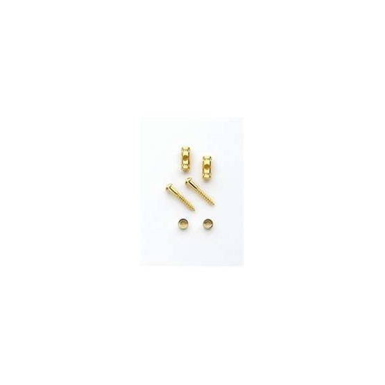 ALL PARTS AP0727002 BARREL STRING GUIDES (2) WITH SCREWS FOR GUITAR, GOLD