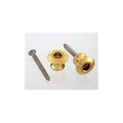 ALL PARTS AP6582002 BUTTONS ONLY FOR DUNLOP STRAP LOCK SYSTEM, WITH SCREWS (2), GOLD