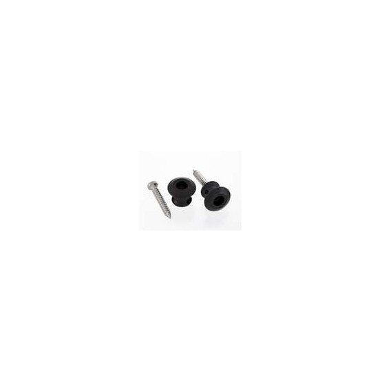 ALL PARTS AP6582003 BUTTONS ONLY FOR DUNLOP STRAP LOCK SYSTEM, WITH SCREWS (2), BLACK