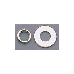 ALL PARTS AP6691001 NUT AND WASHER FOR SCHALLER STRAP LOCK SYSTEM (2 EACH), NICKEL.