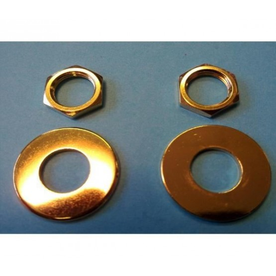 ALL PARTS AP6691002 NUT AND WASHER FOR SCHALLER STRAP LOCK SYSTEM (2 EACH), GOLD