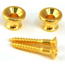 ALL PARTS AP6695002 GIBSON STYLE STRAP BUTTONS WITH SCREWS GOLD UNIDAD
