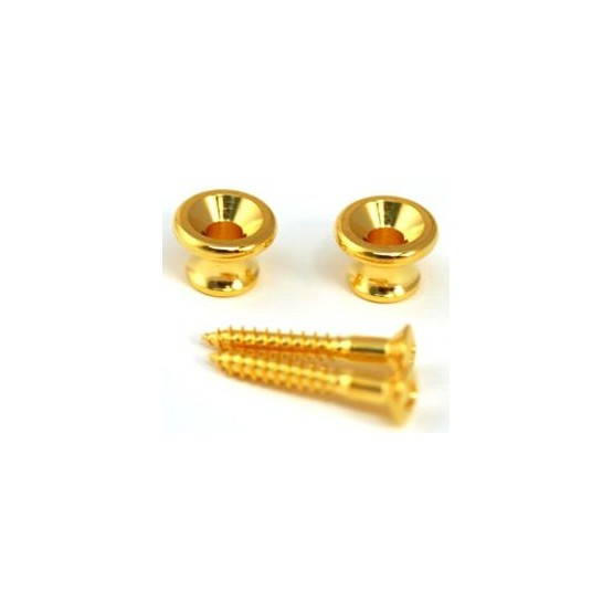 ALL PARTS AP6695002 GIBSON STYLE STRAP BUTTONS WITH SCREWS, GOLD UNIDAD