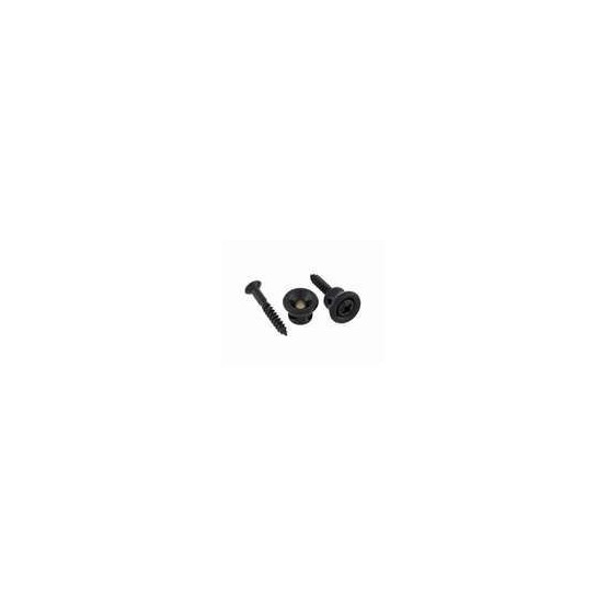 ALL PARTS AP6695003 GIBSON STYLE STRAP BUTTONS WITH SCREWS, BLACK UNIDAD