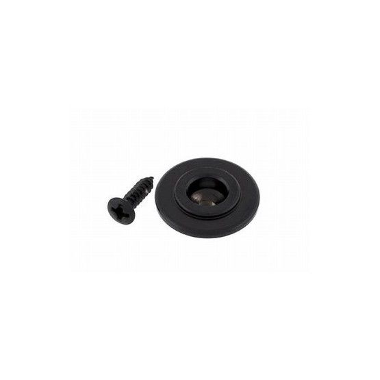 ALL PARTS AP6710003 BASS STRING GUIDE ROUND WITH SCREW, BLACK