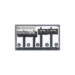ALL PARTS BB0310003 BASS BRIDGE, BLACK, WITH SCREWS, FOR FENDER, 2-1/4 STRING SPACING