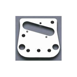 ALL PARTS BP0051010 PICKUP / BRIDGE PLATE FOR TELE USING A BIGSBY CHROME