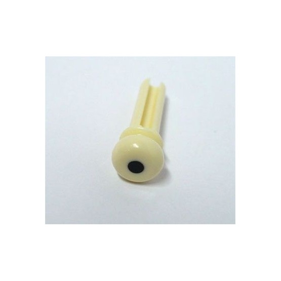 ALL PARTS BP0677028 CREAM PLASTIC END PINS FOR ACOUSTIC BASS WITH GROOVE 4 PIECES