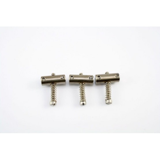 ALL PARTS BP2328009 BRIDGE SADDLES TILT-COMPENSATED(SET OF 3) WITH SPRINGS AND SCREWS FOR TELE, TI