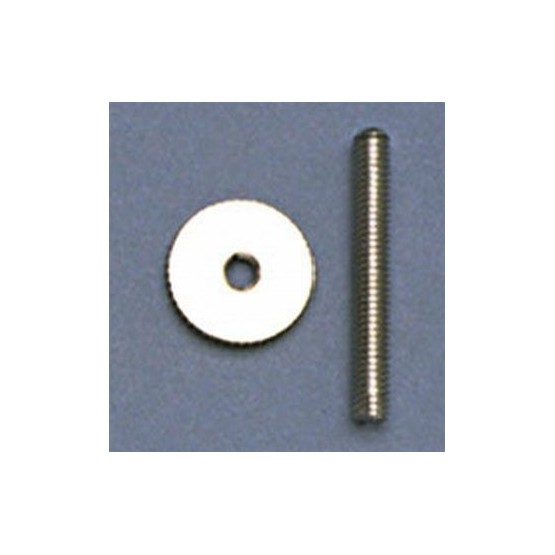 ALL PARTS BP2393001 STUDS AND WHEELS SET, METRIC, FOR OLD STYLE TUNEMATIC BRIDGE, NICKEL