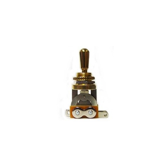 ALL PARTS EP0066002 SHORT STRAIGHT TOGGLE SWITCH, GOLD, WITH KNOB