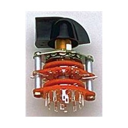 ALL PARTS EP0920000 ROTARY SWITCH 6-POSITION 4-POLE WITH BLACK POINTER KNOB