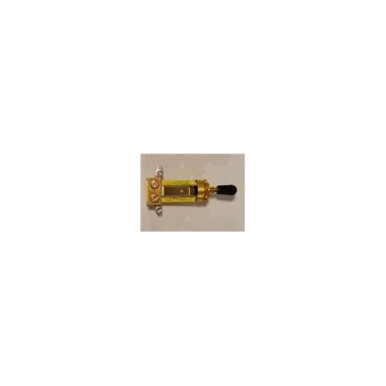 ALL PARTS EP4367002 SWITCHCRAFT STRAIGHT TOGGLE SWITCH, GOLD TONE, WITH KNOB