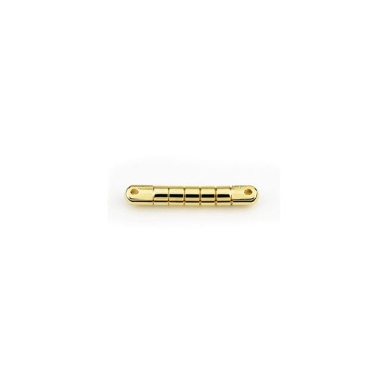 ALL PARTS GB2565002 GRETSCH STYLE BAR BRIDGE SOLID BRASS GOLD PLATED