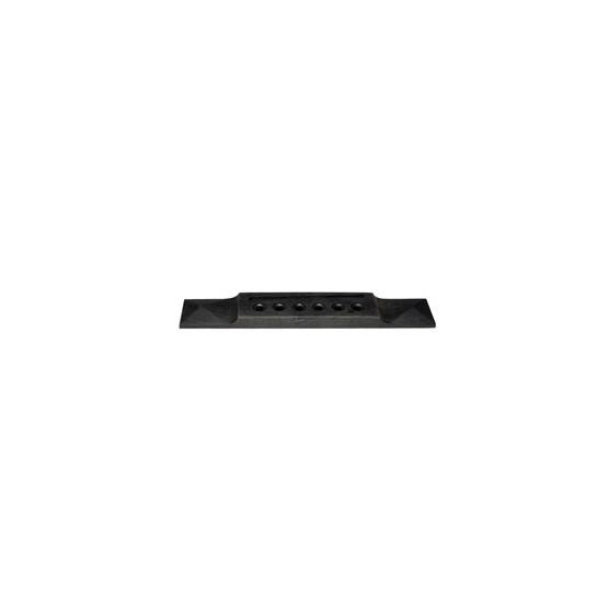 ALL PARTS GB28500E0 PYRAMID BRIDGE FOR ACOUSTIC GUITAR, EBONY, NO FINISH 6 X 1