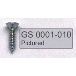 ALL PARTS GS0001003 PICK GUARD SCREWS PHILLIPS HEAD, BLACK, 4 X 1/2