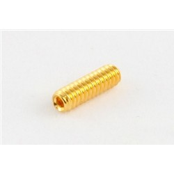 ALL PARTS GS0002002 BRIDGE HEIGHT SCREWS (12 PIECES) FOR GUITAR HEX HEAD GOLD