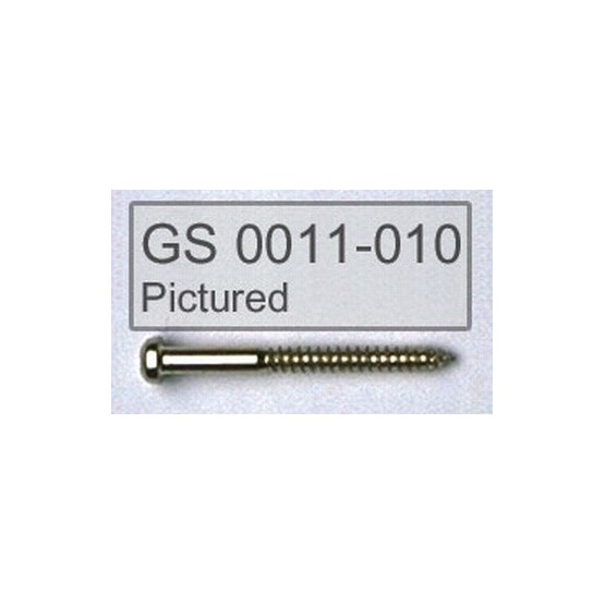 ALL PARTS GS0011002 PICKUP MOUNTING SCREWS FOR BASS, GOLD, 1-1/4 LONG.