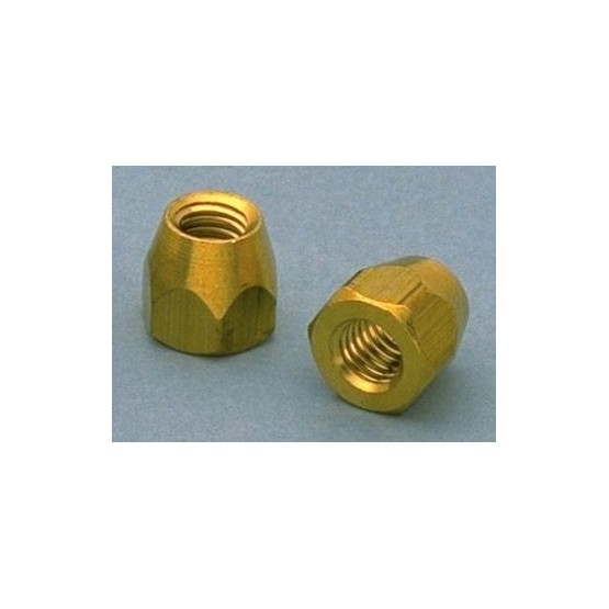 ALL PARTS LT0660008 TRUSS ROD NUTS (4 PIECES) FOR GIBSON GUITARS, BRASS (10-32)