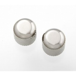 ALL PARTS MK0110001 NICKEL DOME KNOBS (2) WITH SET SCREW
