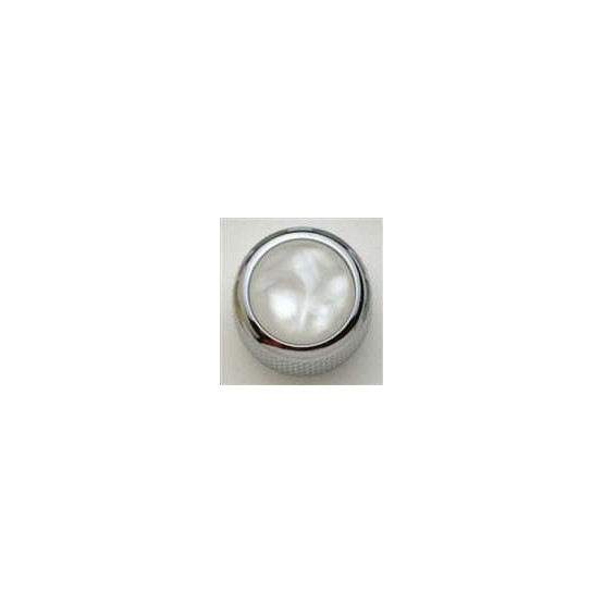 ALL PARTS MK3170010 WHITE PEARL ACRYLIC ON CHROME KNOB WITH SET SCREW