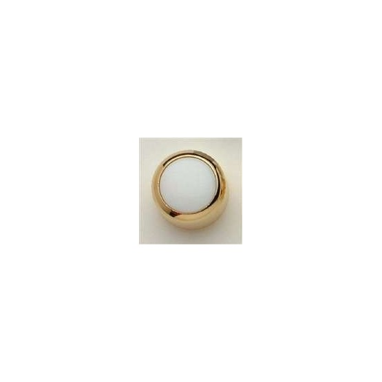 ALL PARTS MK3175002 WHITE ACRYLIC ON GOLD KNOB WITH SET SCREW