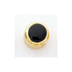 ALL PARTS MK3176002 BLACK ACRYLIC ON GOLD KNOB WITH SET SCREW