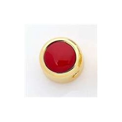 ALL PARTS MK3177002 RED ACRYLIC ON GOLD KNOB WITH SET SCREW