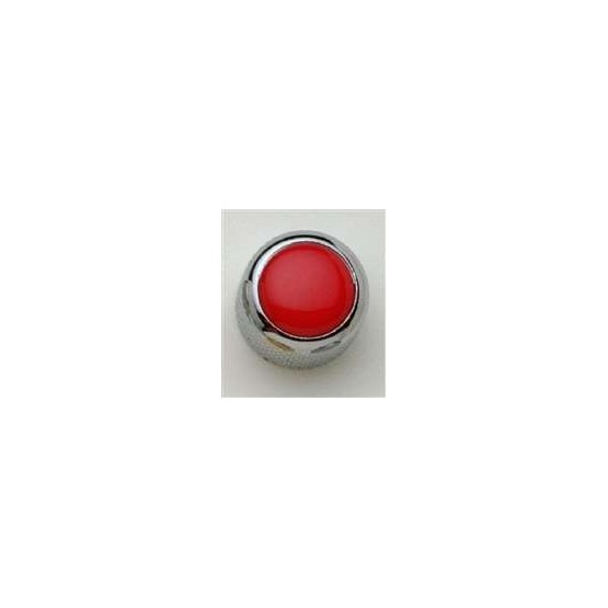 ALL PARTS MK3177010 RED ACRYLIC ON CHROME KNOB WITH SET SCREW