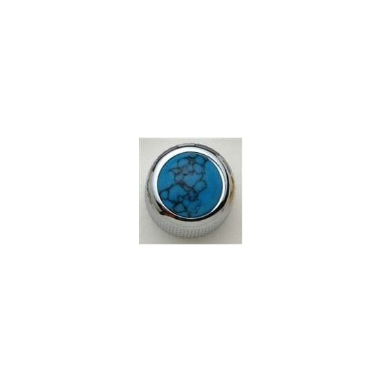 ALL PARTS MK3180010 TURQUOISE ON CHROME KNOB WITH SET SCREW