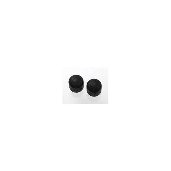 ALL PARTS MK3300003 BLACK DOME KNOBS (2) PUSH-ON FITS SPLIT SHAFT POTS
