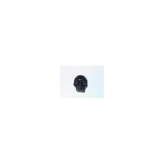 ALL PARTS MK3335003 SKULL KNOB, PUSH-ON, SATIN BLACK, FITS SPLIT SHAFT POTS.