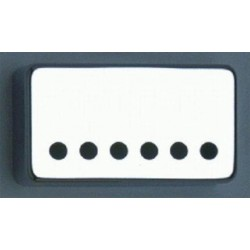 ALL PARTS PC0300W10 HUMBUCKING PICKUP COVERS, CHROME PLATED