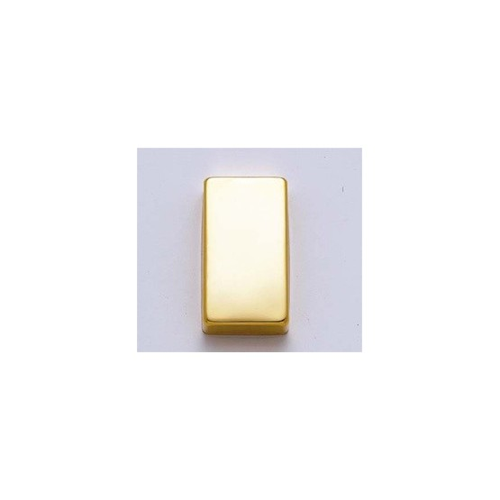 ALL PARTS PC0307002 HUMBUCKING PICKUP COVER SET (2 PIECES) NO HOLES, GOLD