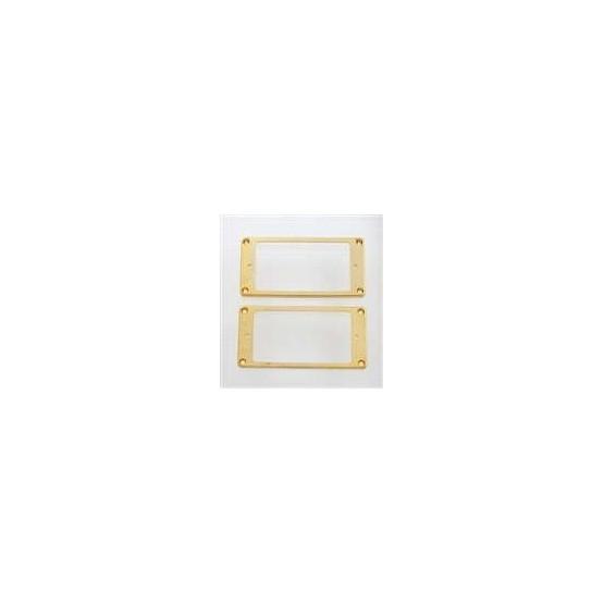 ALL PARTS PC0743002 HUMBUCKING PICKUP RING SET NECK BRIDGE SLANTED GOLD PLATED