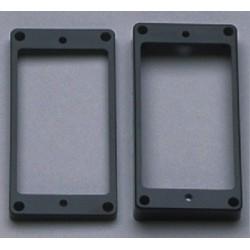 ALL PARTS PC0743023 HUMBUCKING PICKUP RING SET - NECK AND BRIDGE SLANTED BLACK PLASTIC