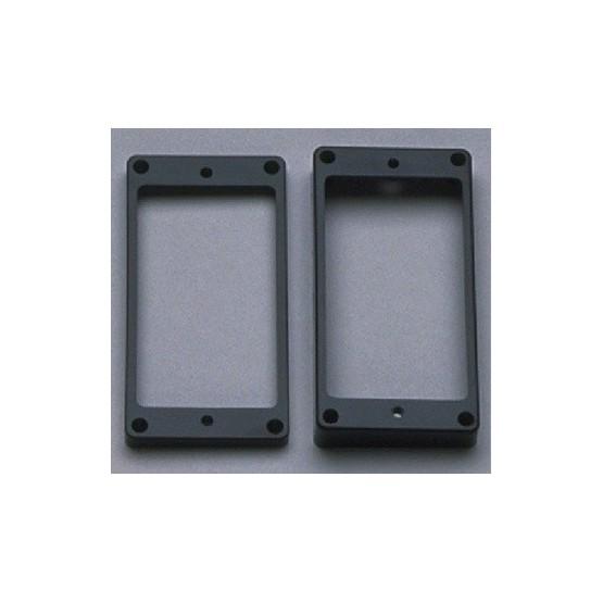 ALL PARTS PC0743023 HUMBUCKING PICKUP RING SET - NECK AND BRIDGE, SLANTED, BLACK PLASTIC