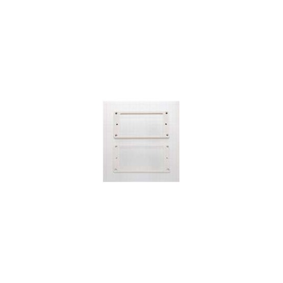 ALL PARTS PC0743025 HUMBUCKING PICKUP RING SET - NECK AND BRIDGE, SLANTED, WHITE PLASTIC