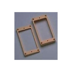 ALL PARTS PC0743028 HUMBUCKING PICKUP RING SET - NECK AND BRIDGE, SLANTED, CREAM PLASTIC