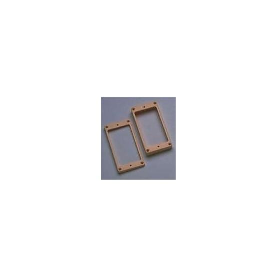 ALL PARTS PC0743028 HUMBUCKING PICKUP RING SET - NECK AND BRIDGE, SLANTED, CREAM PLASTIC