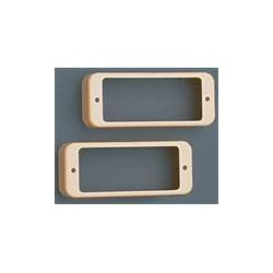 ALL PARTS PC0747028 MINI HUMBUCKING PICKUP RINGS (2 PIECES), CREAM