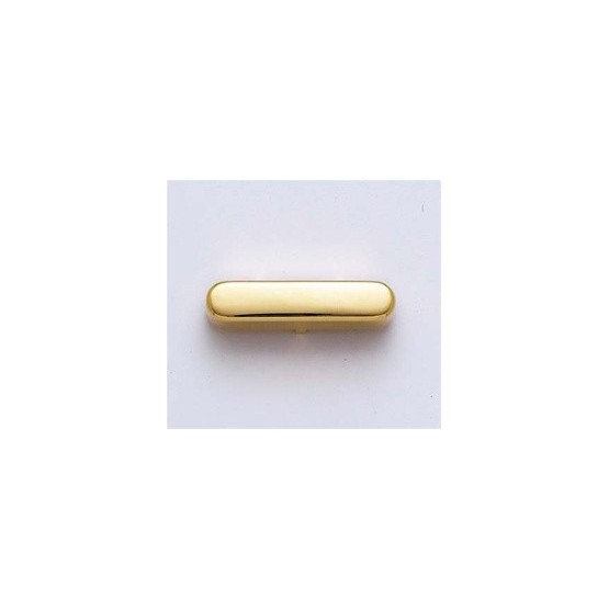 ALL PARTS PC0954002 PICKUP COVER FOR TELE NECK PICKUP, GOLD PLATED