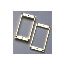 ALL PARTS PC5436002 HUMBUCKING PICKUP RING SET - NECK AND BRIDGE, WITH FLAT BOTTOM, GOLD