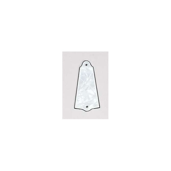 ALL PARTS PG0485055 TRUSS ROD COVER TO FIT GIBSON, WHITE PEARLOID 3-PLY (WP/W/B).