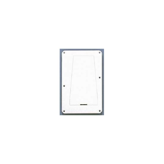 ALL PARTS PG0548025 TREMOLO SPRING COVER, WITH ACCESS PANEL, WHITE 1-PLY