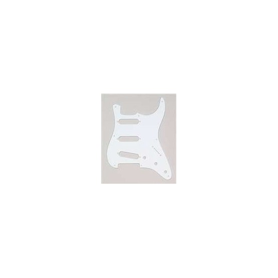 ALL PARTS PG0550025 PICK GUARD FOR STRAT, WHITE 1-PLY (8 SCREW HOLES)