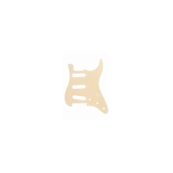 ALL PARTS PG0550028 PICK GUARD FOR STRAT, CREAM 1-PLY (8 SCREW HOLES)